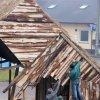 Budowa szopki 2009 - parafia Konopiska